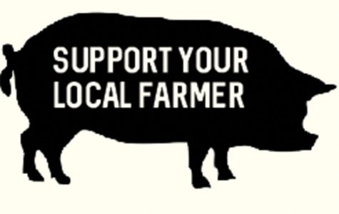 Students and staff show support for a local farmers market