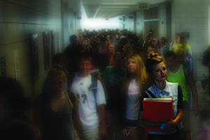 Southwest students pack the hallways between classes