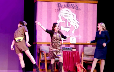 Paulette, portrayed by sophomore Bailey Cockerham, has a 'hands-on' experience with the UPS man