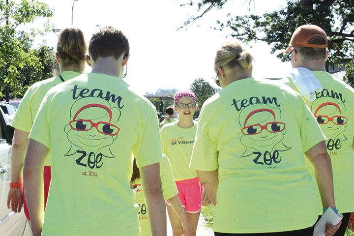 Future Southwest student and Morse Elementary fifth-grader Zoe Murrow worked with her mother, Katie Murrow, to organize the Kansas City VisionWalk, which raises awareness for vision loss.
