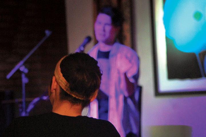 Senior Stephanie Kealey hosts bimonthly poetry slams at The Art Factory