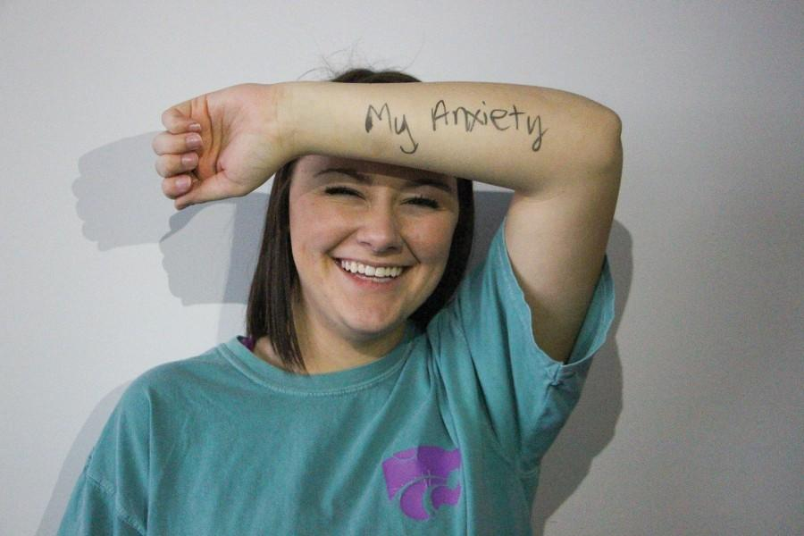 """For senior Brooke Egan, her anxiety doesn't define her in her day-to-day life. """"It's really easy to let something like anxiety control you on a daily basis, so, to me, being more than it means taking control of my own life,"""" Egan said."""