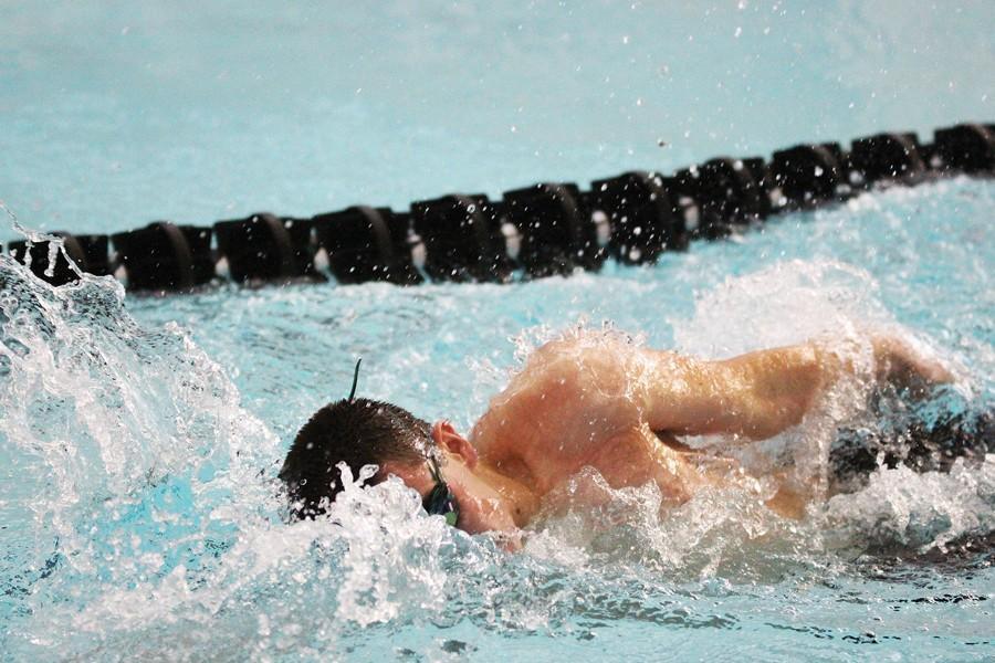 Boys swim team prepares for remaining meets