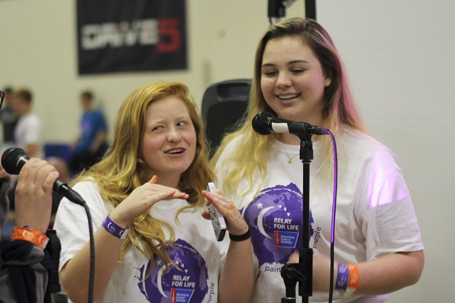 Students and staff participate in the annual Relay for Life event