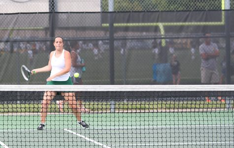 Gallery: Girls varsity tennis match vs. Blue Valley High on Aug. 29