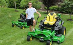 Cash Grows on Grass: Senior Trevor Schwartz runs successful lawn mowing business