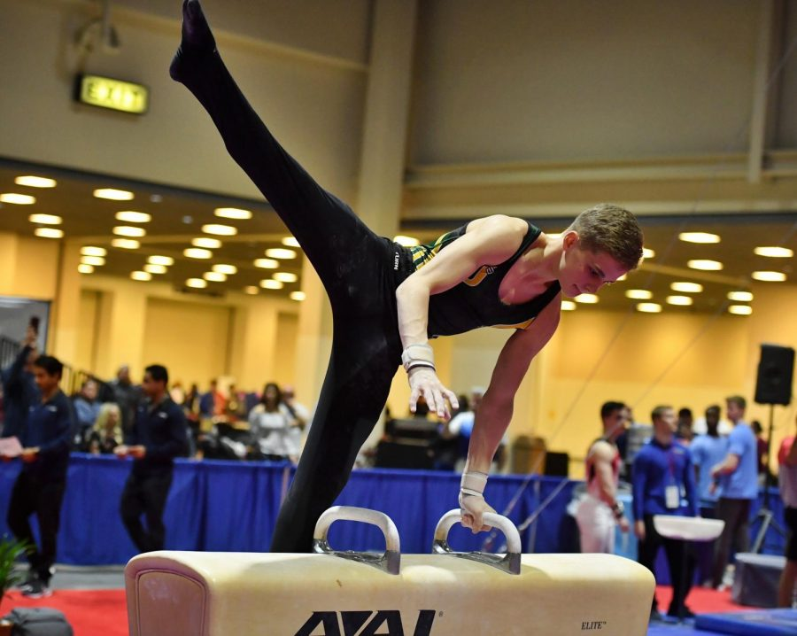 Blood, Sweat and Chalk: senior Chance Brogan competes as a level 10 gymnast