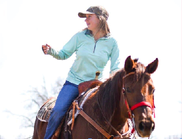 Senior Lucy England plans to continue barrel racing and rodeo at the collegiate level