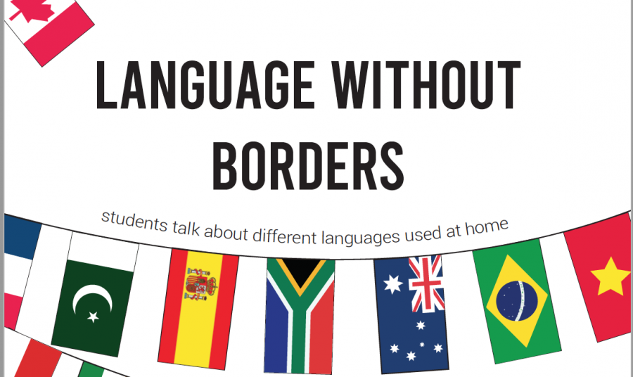 Students share different languages that they speak when at home.