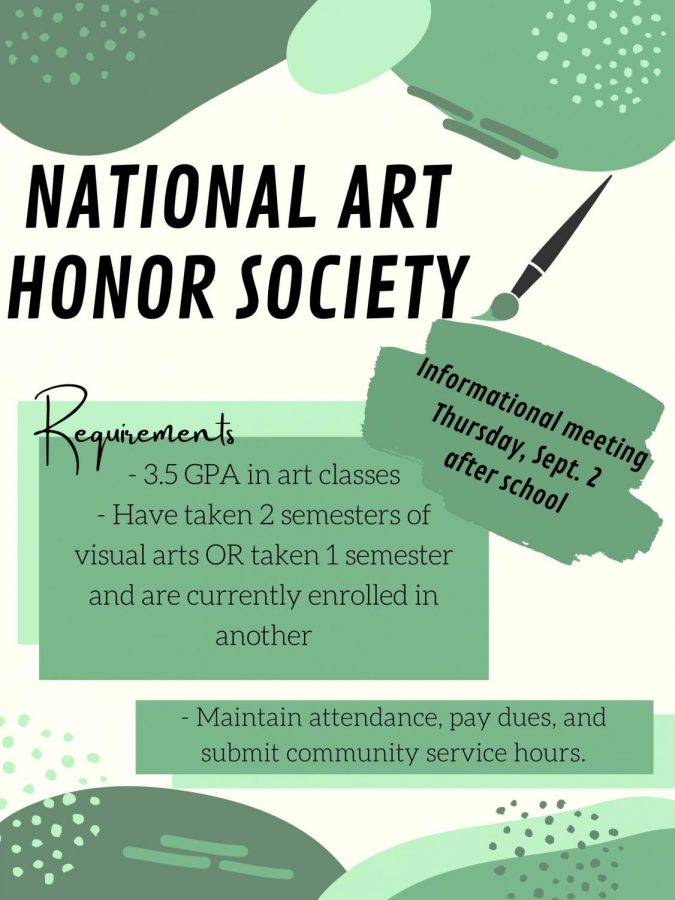 Applications for National Art Honor Society due Sept. 3